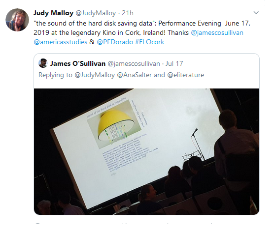 Judy Malloy: Writer's Notebook for 2018-2019